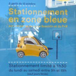 Zone bleue rue Boecklin : la carte des emplacements