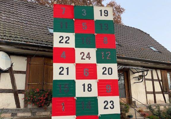 Un calendrier de l'Avent géant au Jardin de Marthe