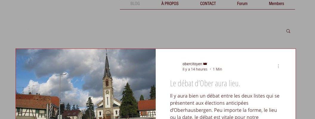 Oberhausbergen : un blog citoyen