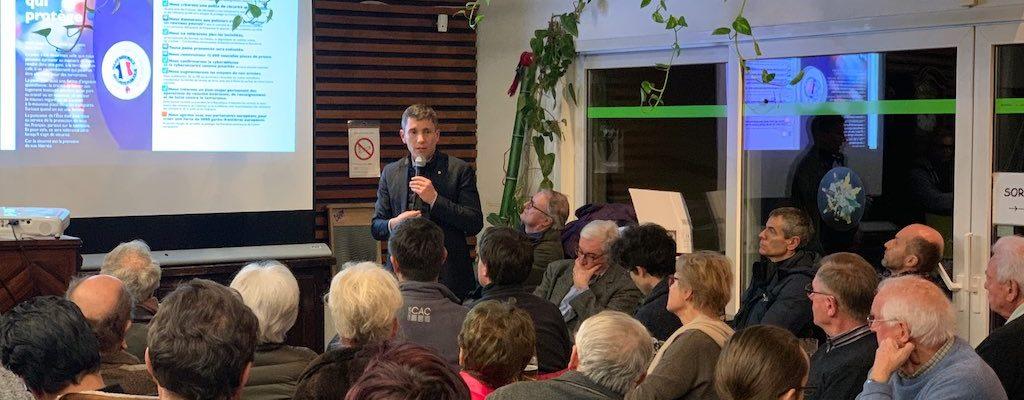 Franc succès pour la réunion publique de Bruno Studer à la Robertsau
