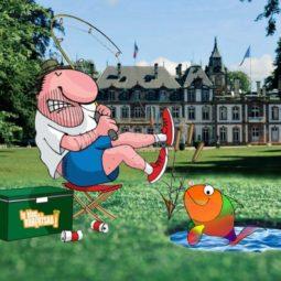 Golf dans le parc de Pourtalès : le poisson était au départ du parcours !