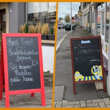 Route de la Wantzenau : la rue aux pancartes