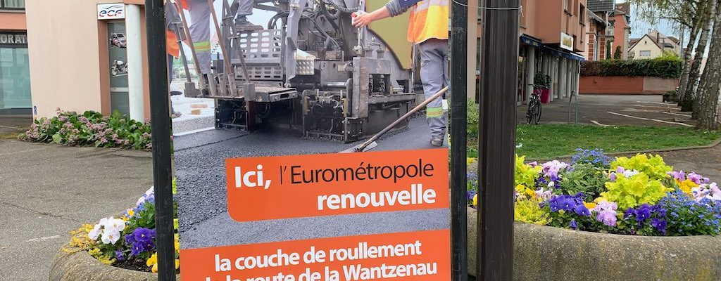 Travaux au croisement de la route de la Wantzenau – rue de l'Ill jusqu'au 30 avril 2019
