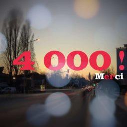 4 000 sur Facebook, 1 100 sur Twitter : Merci !