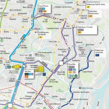 Tram E et nouveau réseau bus : mise en service le 17 juin à la Robertsau
