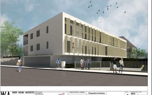 Un immeuble du bailleur social In'Li rue du Muhlwasser