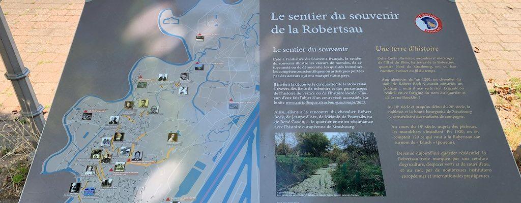 Sentier du souvenir de la Robertsau
