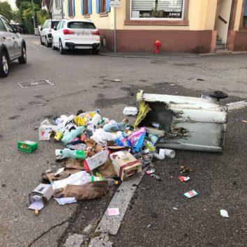 Des poubelles incendiées rue des Maraîchers
