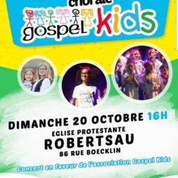 Concert des Gospel Kids à l'église protestante de la Robertsau