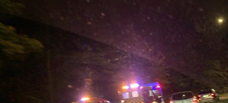Accident de bus spectaculaire chemin Goeb