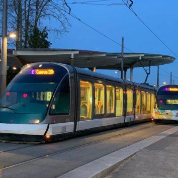 Tram E : terminus rue Boecklin
