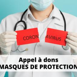 Appel à dons : masques de protection