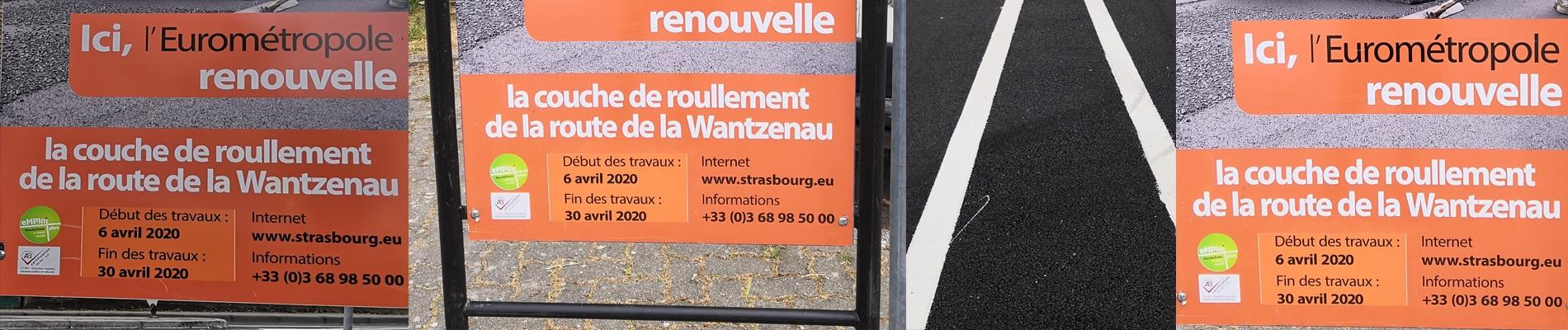 Route de la Wantzenau : ça « roulle » (sic), sauf pour les vélos