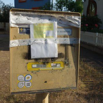 La boîte aux lettres de la Cité des Chasseurs toujours confinée