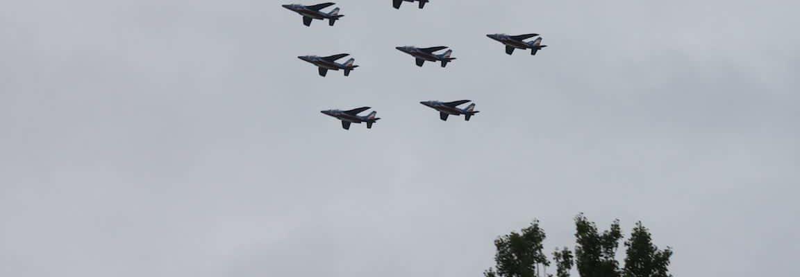 Quand la patrouille de France passe au-dessus de la Robertsau