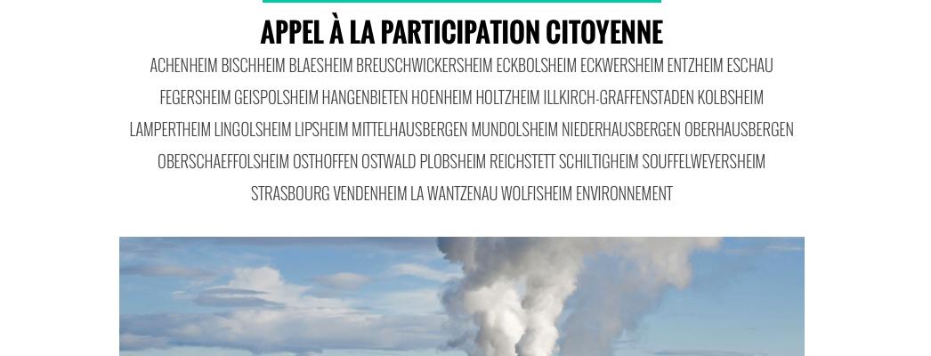 Qui veut donner son avis sur la géothermie ?
