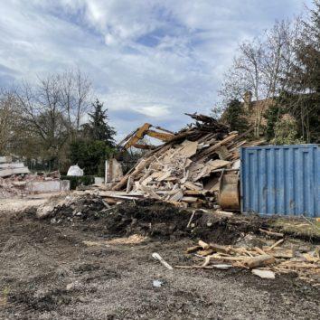 Les travaux de démolition ont commencé rue des Fleurs