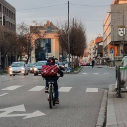 Une Vélorution route de Bischwiller
