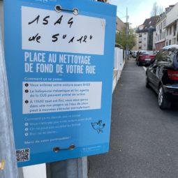 La campagne bleue de la Ville pour nettoyer les rues