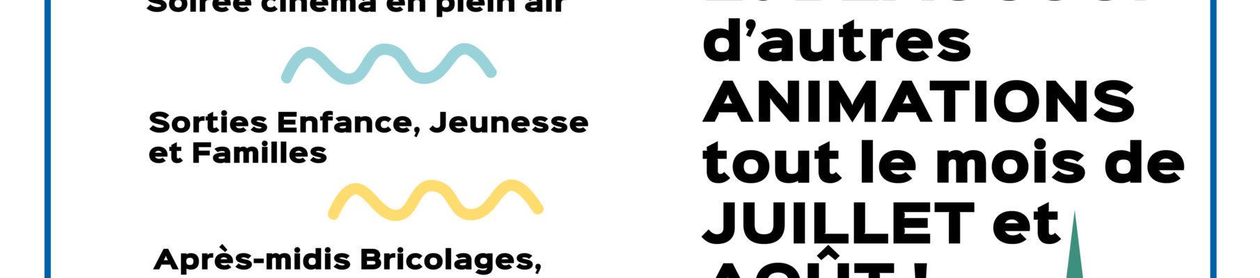Programme des animations d'été de l'Escale (Juillet-Août 2021)