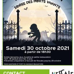 Soirée d'Halloween à l'Escale le samedi 30 octobre 2021 !