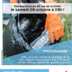 Nettoyage d'automne avec l'Escale à la Cité de l'Ill !